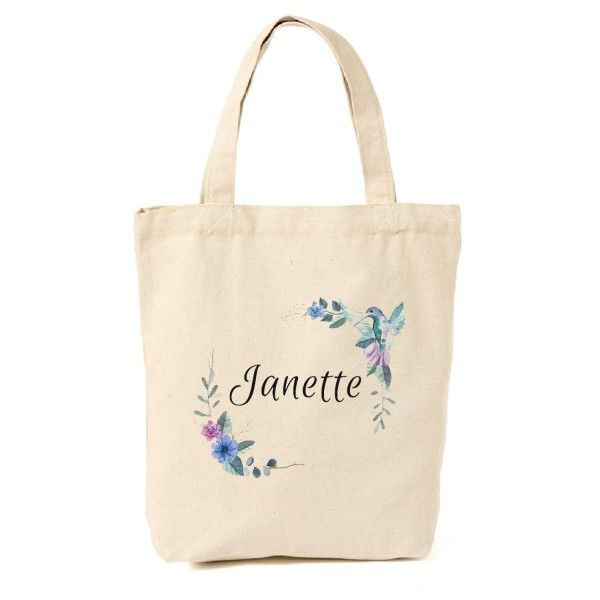Hummingbird Personalized Canvas Tote Bag Gifts For Bird Lovers