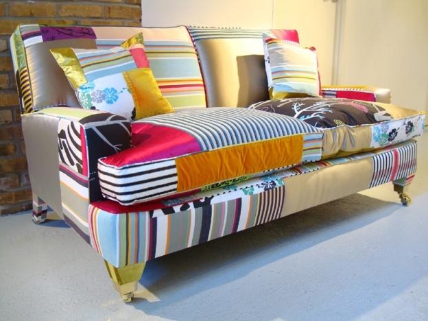 crazy patchwork upholstered furniture