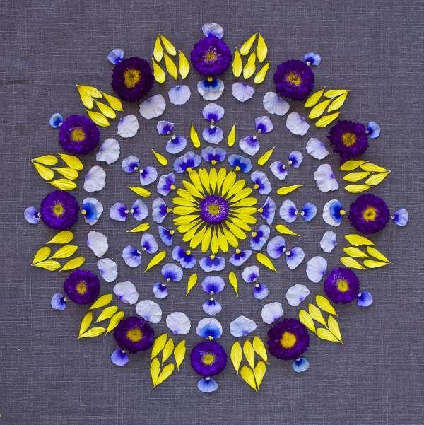 Flower mandala by Kathy Klein @Danmala.com