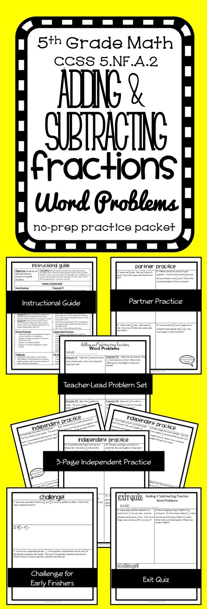 Free Worksheet Fraction Attraction Worksheet 17 best ideas about add and subtract fractions on pinterest adding subtracting with unlike denominators word problems complete 8 page lesson packet
