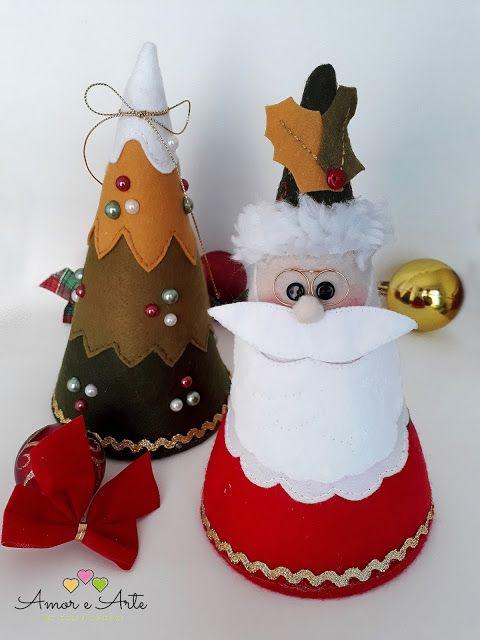 Papai Noel e Árvore de Natal Cone