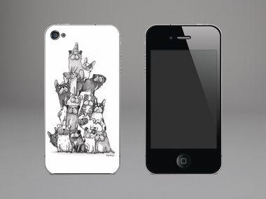 Designfolie Bully-Stapel für dein Apple iPhone 4/4s