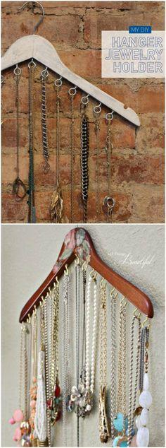DIY perchas. Visto en www.ecodecomobiliario.com