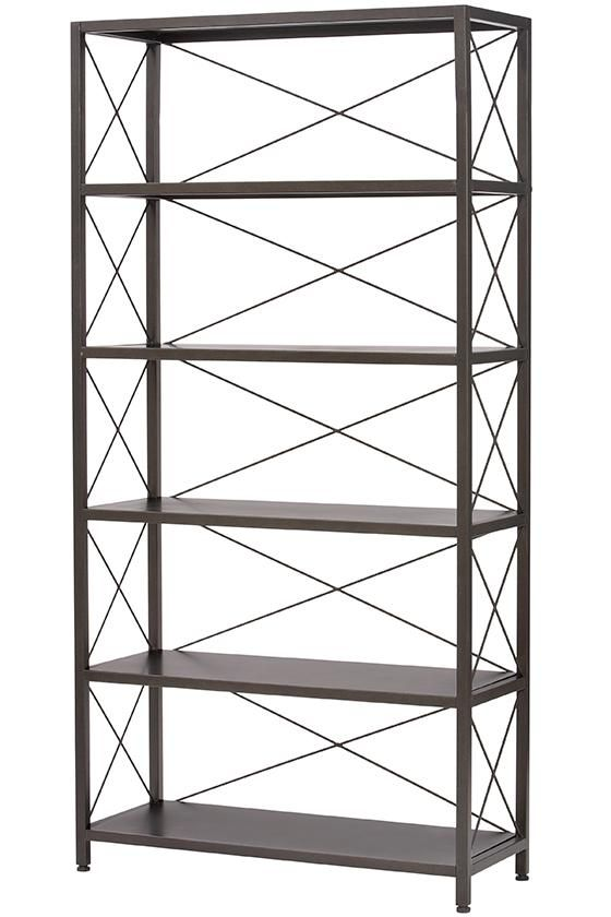 Ryan Metal Bookcase this metal bookcase is sleek and sturdy