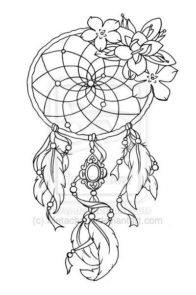 Dream Catcher Outline Captivating 35 Best Dream Catcher Drawing Tattoo For Girls Images On Pinterest Design Ideas