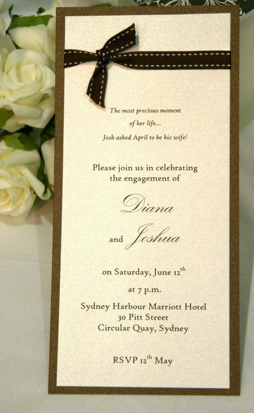 177 best Single Card Style Wedding Invitations images on Pinterest - engagement invitation cards templates