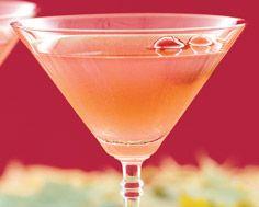 Maple Leaf MartiniJuice of ¼ fresh lemon 1/8 cup fresh or frozen cranberries 1 tsp superfine sugar 1½ oz vodka 1 to 2 tsp maple syrup (to taste) Garnish: frozen cranberry