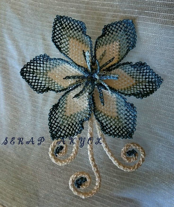 İğne oyası broş, Turkish Needle Lace