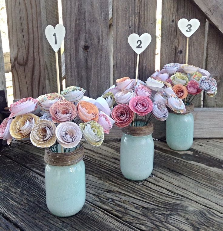 This centerpiece is perfect for rustic and elegant weddings alike, they can be used as table numbers or centerpieces. Each are very detailed and includes 24 colorful rose blossoms. The hand painted Ma
