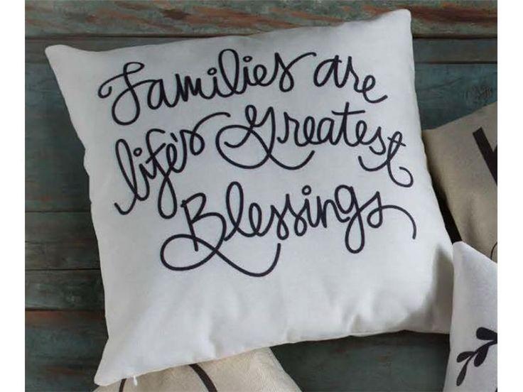 Life's Blessings Pillows http://inspiredethos.uppercaseliving.net/Home.m