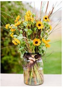 Sunflower centerpiece or isle lining!