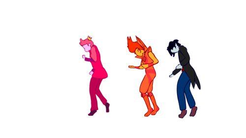 Príncipe Chicle, Príncipe Llama y Marshall Lee bailando
