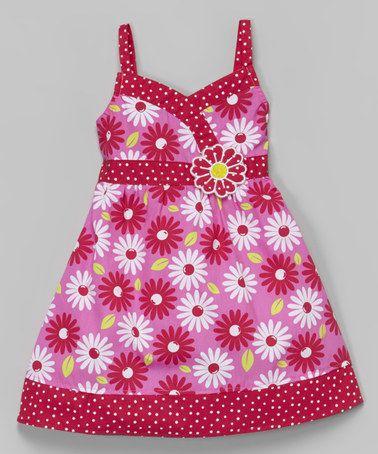 Fuchsia & Pink Floral Surplice Dress - Infant, Toddler & Girls by Sugah & Honey #zulily #zulilyfinds
