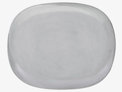 COURBE Light grey side plate