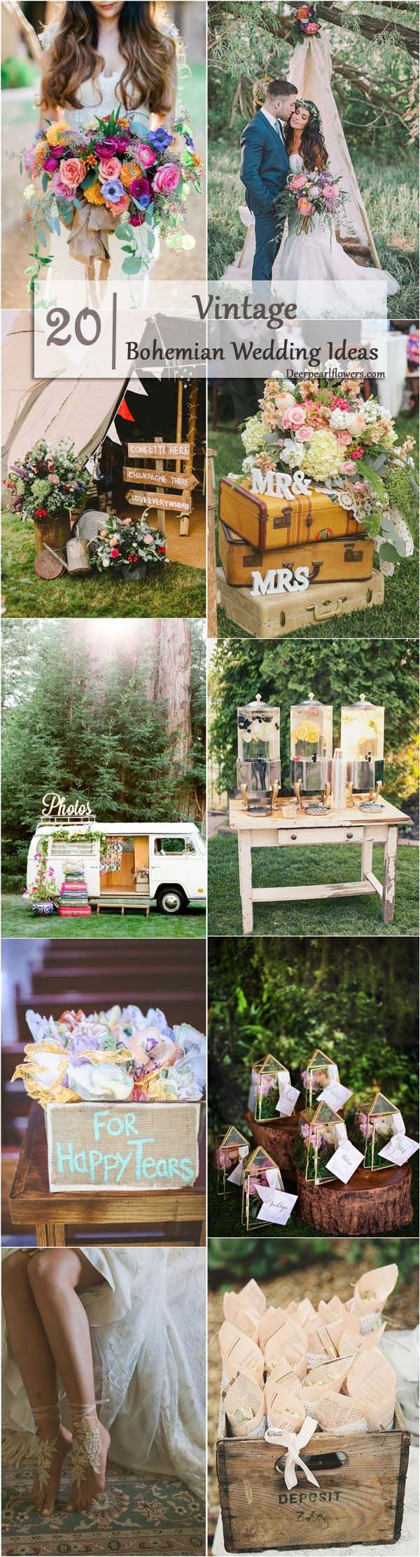 25 best ideas about bohemian weddings on pinterest for Vintage theme ideas