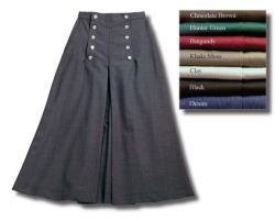 Riding Skirt- 1800's, Riding Attire in Woman's Western Wear by Cattle Kate