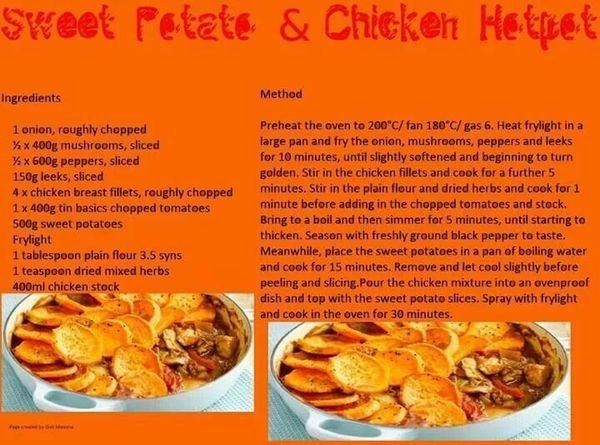 Sweet Potato Chicken Hot Pot Slimming World Diet