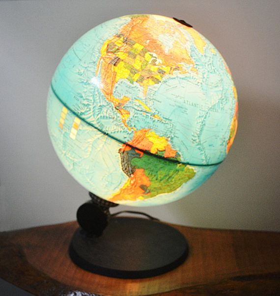 Rare 1972 Illuminated Scan Globe A/S Demark Edition 1983
