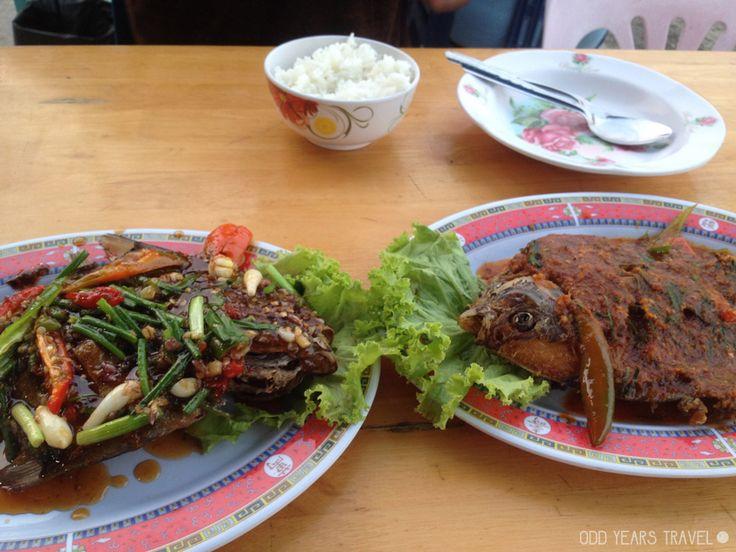 Delicious seafood in Prachuap Khiri Khan, Thailand