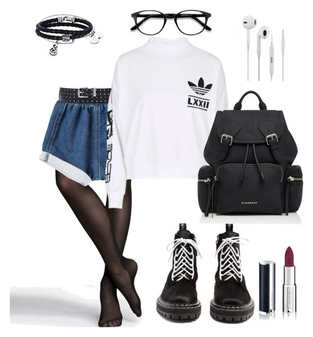 """""""Untitled #175"""" by ezerys on Polyvore featuring Express, adidas, Proenza Schouler, Burberry, Givenchy, EyeBuyDirect.com and Phillip Gavriel"""