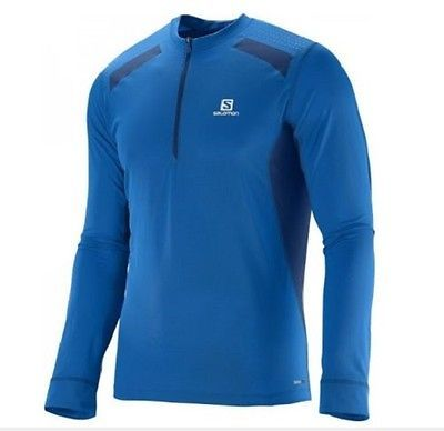 Other Cross Country Skiing 28083: Salomon Mens Fast Wing Long Sleeve Running Shirt Union Blue Medium- New -> BUY IT NOW ONLY: $35.95 on eBay!