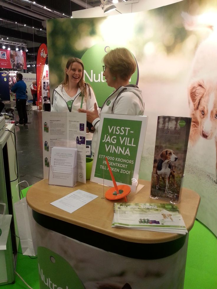 We are happy and proud of our unique fatty acid supplements so it's always nice to work at our stand.