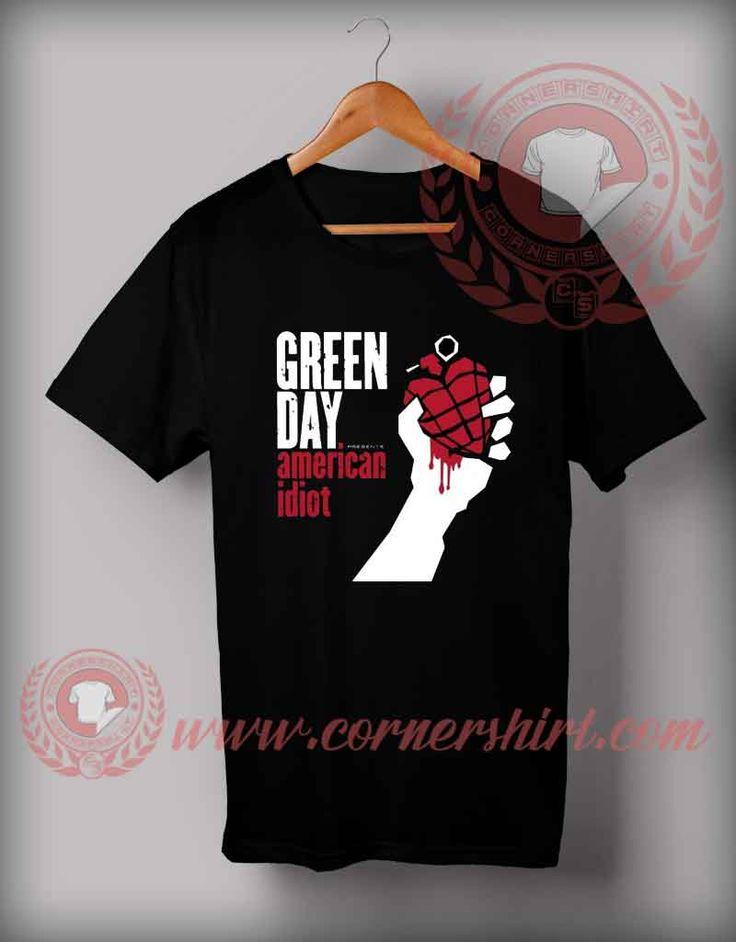 Cheap Custom Made T Shirts American Idiot //Price: $14.5//     #custom