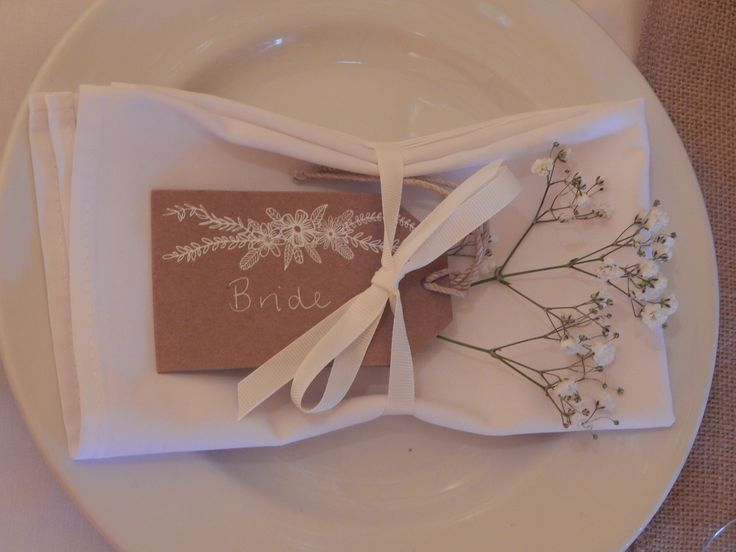 A simple but very elegant place setting.