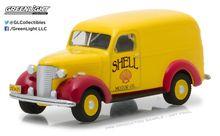 Greenlight 1:64 Running Empty Series 4 1939 Chevy Panel truck Shell Oil