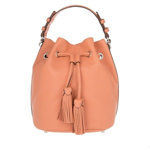 Abro Adria Calf Leather Bucket Bag Papaya in orange, Shoulder Bags ($160) ❤ liked on Polyvore featuring bags, handbags, shoulder bags, orange, red handbags, abro handbags, shoulder handbags, orange handbags and red shoulder handbags