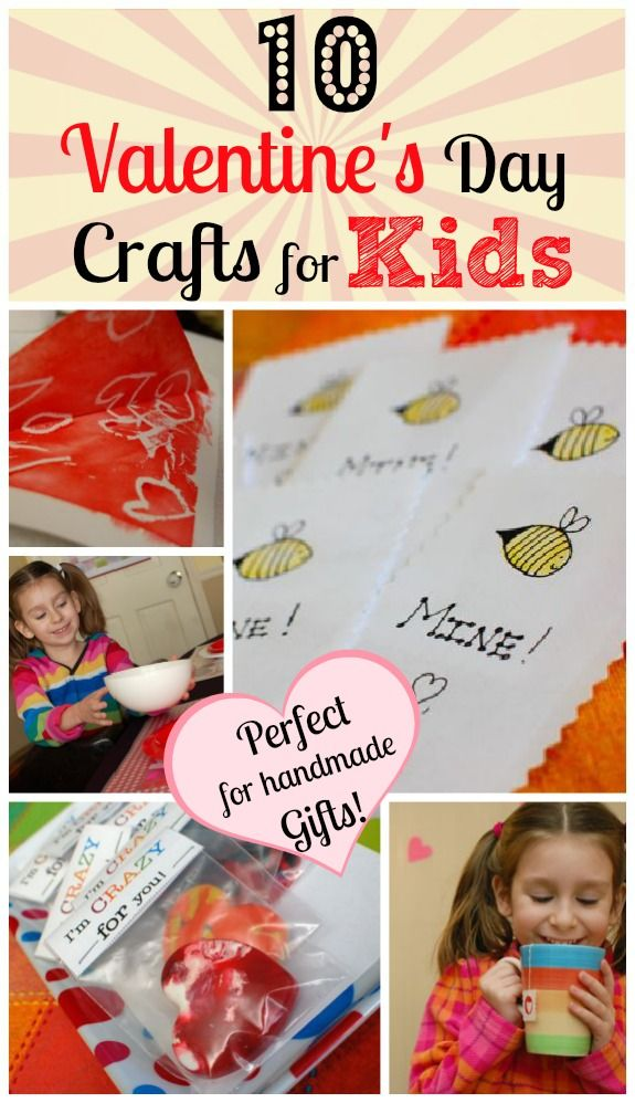 10 Valentine's Day Crafts for Kids - Perfect for handmade gifts the kids can make! Isn't Valentine's Day the perfect excuse to make handmade gifts for the ones you love? #kidscrafts #parenting #ece #preschool