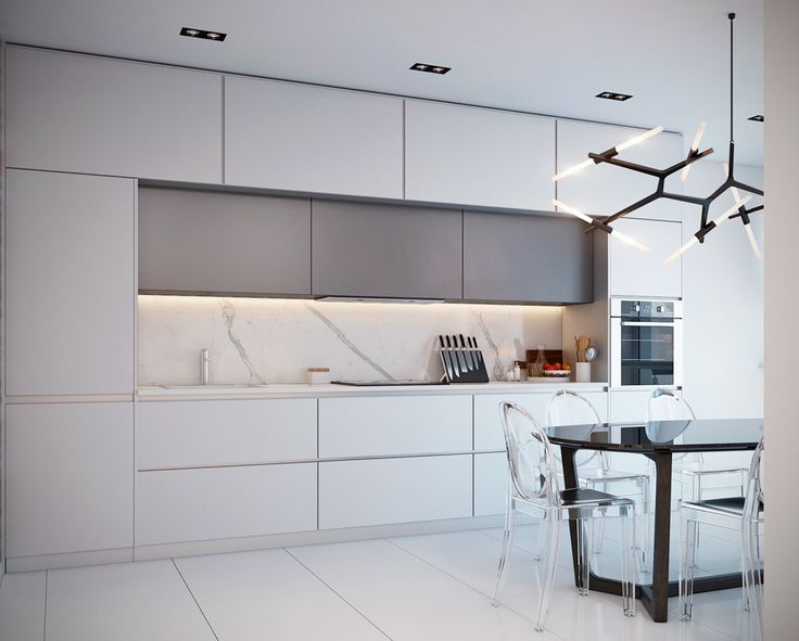 This modern kitchen incorporates many elements.