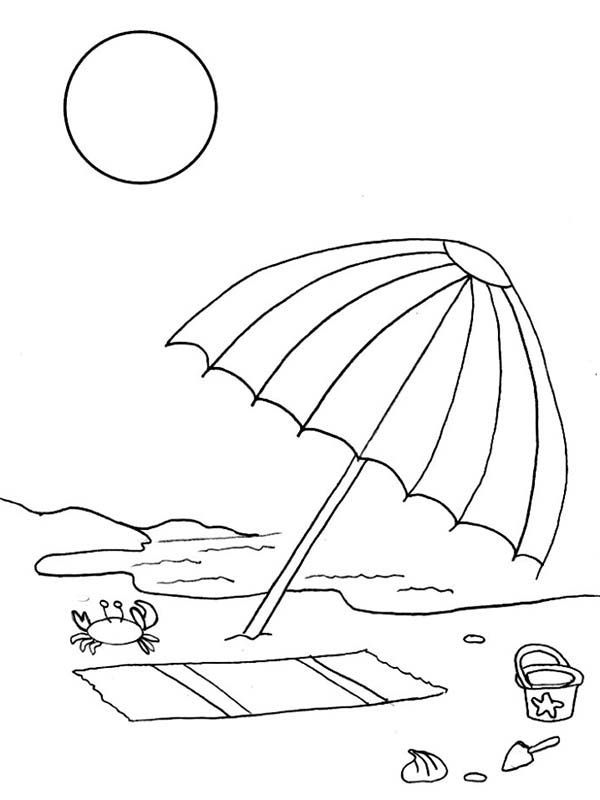 Beach Vacation A Kids Drawing Of Beach Umbrella Coloring Page Line Drawing Umbrella Coloring Page Beach Chairs