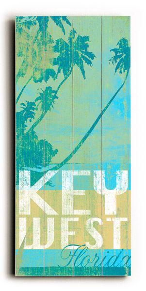 Key West Florida Vintage Beach Sign: Beach Decor, Coastal Home Decor, Nautical Decor, Tropical Island Decor  Beach Cottage Furnishings