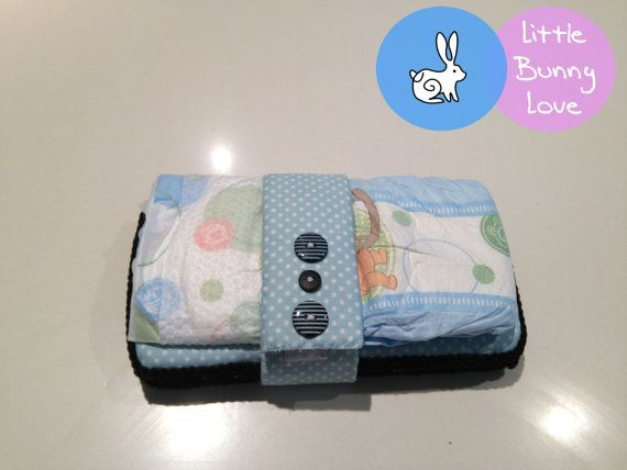 Nappy / Diaper Strap Organiser  Blue and by LittleBunnyLoveShop, $6.00