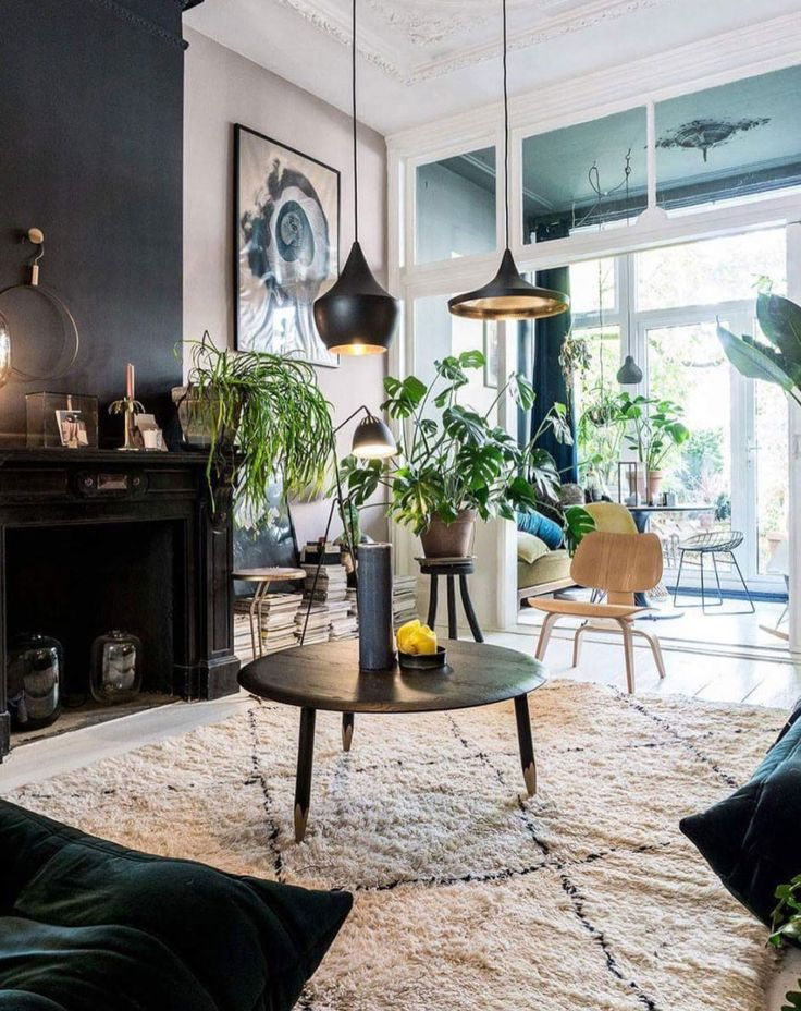 inspiring modern living room with indoor plants. / sfgirlbybay