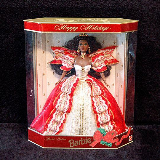 Vintage Barbie Christmas 1997 Happy Holidays Black African American Barbie Doll