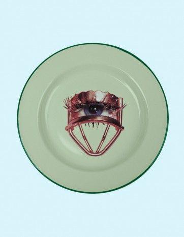 Metal Enamel Plate  - EYE