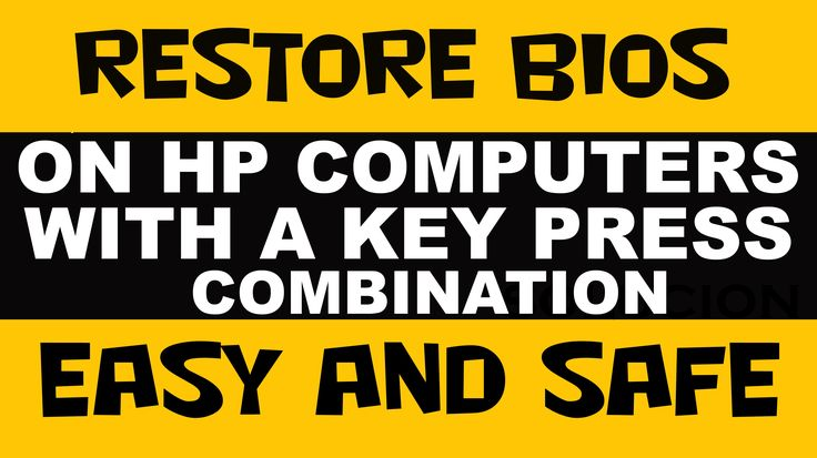 cool RESTORE  BIOS - HP COMPUTERS with a KEY Press COMBINATION Check more at http://gadgetsnetworks.com/restore-bios-hp-computers-with-a-key-press-combination/