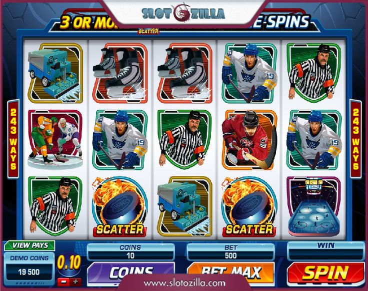 Slot hockey game
