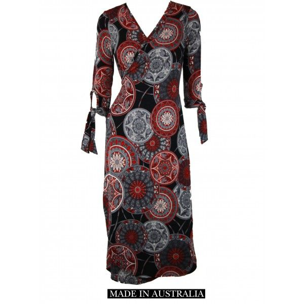 Vea Oriental Print Wrap Dress