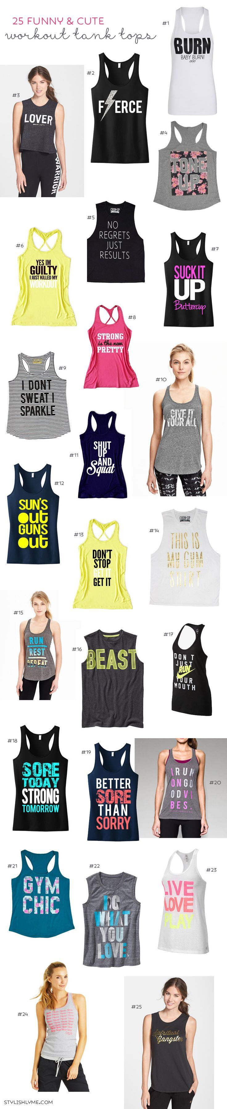 >> Stylist 25 Humorous and Cute Exercise Tank Tops You will Love!