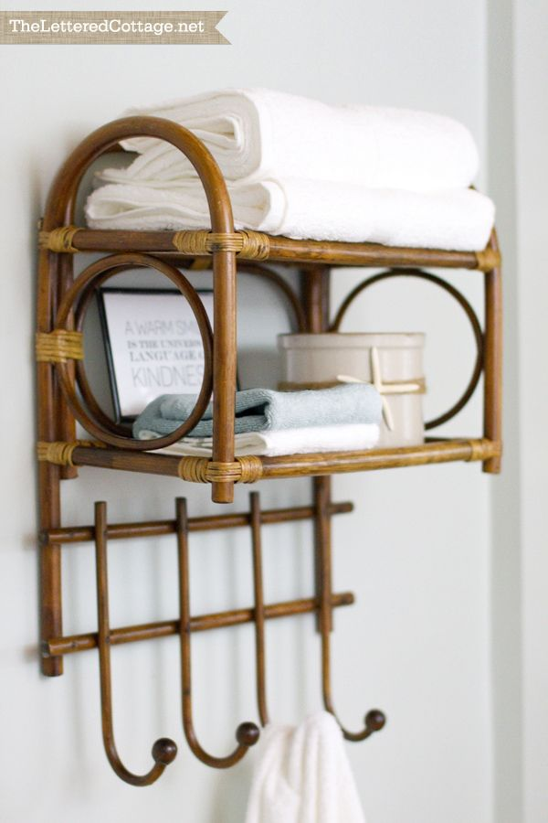 Bent Wood | Bamboo | Towel Rack | Cottage Bathroom | The Lettered Cottage