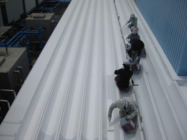 折半屋根の下塗り2
