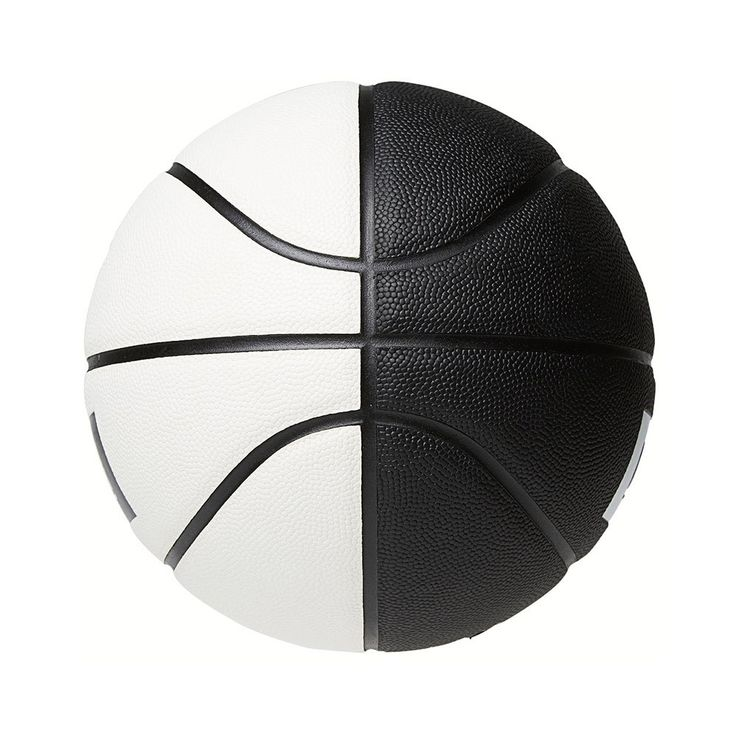 "color blocking a basketball, divide into 3 if NBA pod name shoots toward ""three man/triangle/etc"""