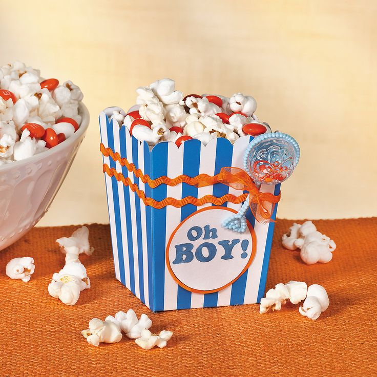 Popcorn Box (Instructions And Materials At Oriental Trading Website). Find  This Pin And More On Baby Shower Ideas ...