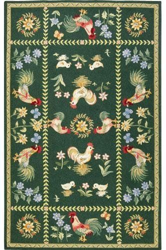 """Spring on the Farm Area Rug - 2'6""""x12' runner, Green by Home Decorators Collection. $207.00. Spring On The Farm Area Rug - Spring On The Farm Area Rugs, From The Popular Chelsea Collection, Are Hand Hooked Of 100% Wool. These Hand-Hooked Rugs Feature Colorful, Intricate Patterns That Are Sure To Add Distinctive And Personal Style To Any Room.You Will Love These Colorful Country Rugs That Are Carefully Crafted Of High-Quality 100% Wool. Each Hand-Hooked Rug Is ..."""