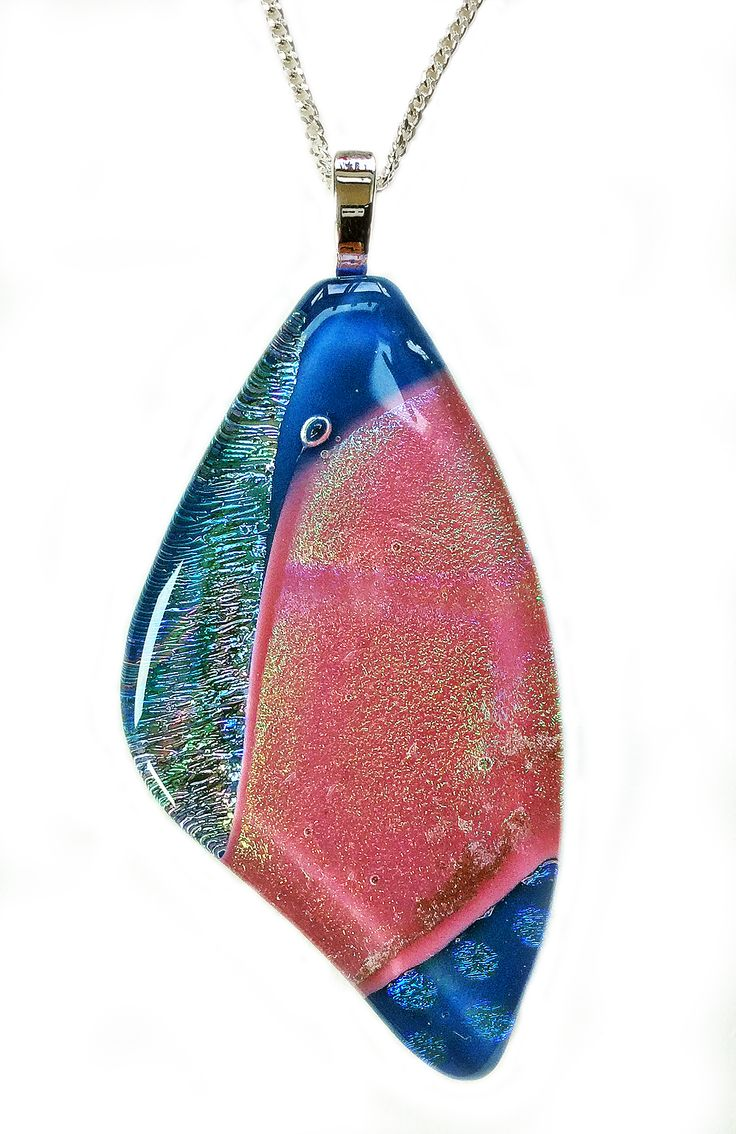 Cotton Candy You can Fly Butterfly Pendant Shards Glass Studio www.shardsglass.com https://www.facebook.com/ShardsGlassStudio?fref=ts