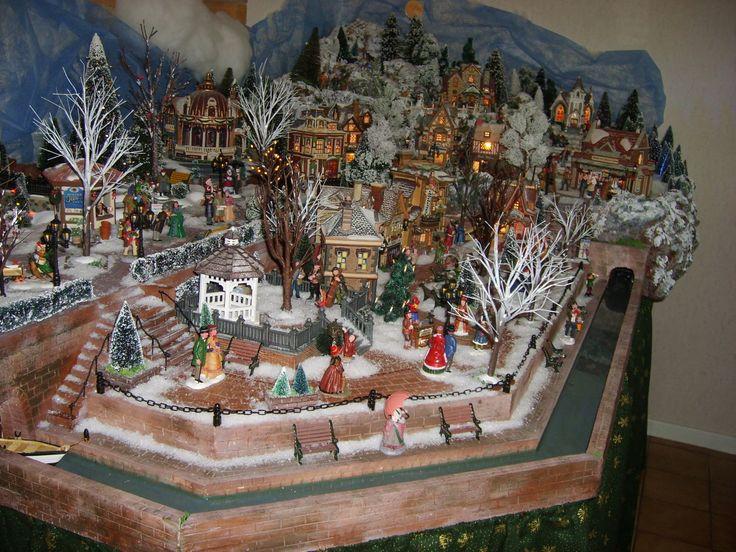 501 best christmas village images on pinterest christmas villages christma - Decoration pour village de noel ...