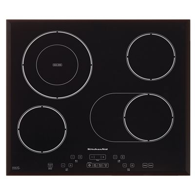 KitchenAid 24-in 4-Element Smooth Surface Electric Cooktop (Black)